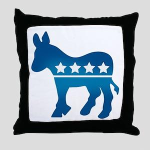 Democrats Donkey Throw Pillow