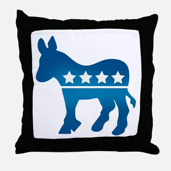Democrats Donkey Throw Pillow