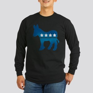 Democrats Donkey Long Sleeve Dark T-Shirt