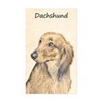 Dachshund (Longhaired) Sticker (Rectangle 10 pk)