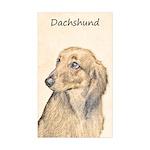 Dachshund (Longhaired) Sticker (Rectangle 50 pk)