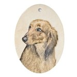 Dachshund (Longhaired) Oval Ornament