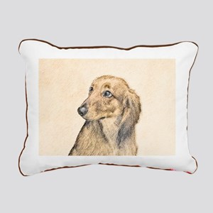 Dachshund (Longhaired) Rectangular Canvas Pillow