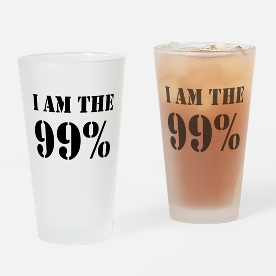 I am the 99% Drinking Glass