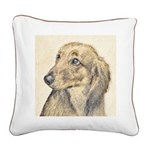 Dachshund (Longhaired) Square Canvas Pillow