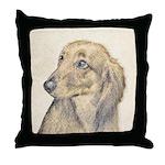Dachshund (Longhaired) Throw Pillow