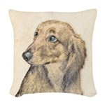 Dachshund (Longhaired) Woven Throw Pillow