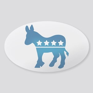 Democrats Donkey Sticker (Oval)