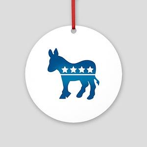 Democrats Donkey Ornament (Round)