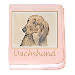 Dachshund (Longhaired) baby blanket