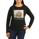 Dachshund (Longha Women's Long Sleeve Dark T-Shirt