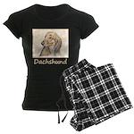Dachshund (Longhaired) Women's Dark Pajamas