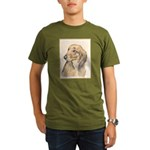 Dachshund (Longhaired Organic Men's T-Shirt (dark)