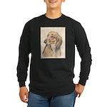 Dachshund (Longhaired) Long Sleeve Dark T-Shirt
