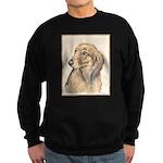 Dachshund (Longhaired) Sweatshirt (dark)