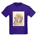 Dachshund (Longhaired) Kids Dark T-Shirt