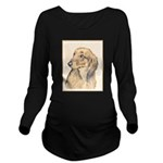 Dachshund (Longhaire Long Sleeve Maternity T-Shirt