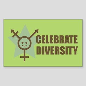 Celebrate Diversity Sticker (Rectangle)