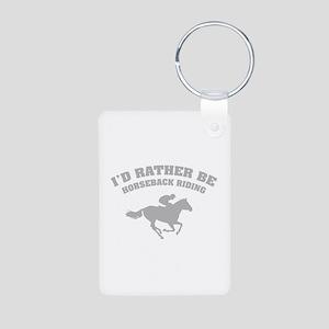 I'd rather be horseback riding Aluminum Photo Keyc