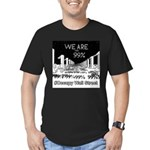 Occupy Wall St. By the numbers Men's Fitted T-Shir