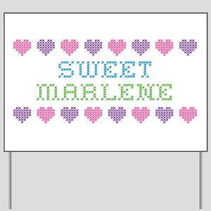 Sweet MARLENE Yard Sign