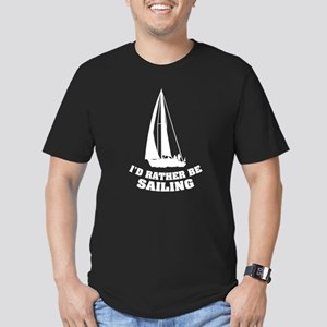 I'd rather be sailing Men's Fitted T-Shirt (dark)