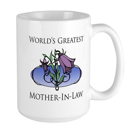 World's Greatest Mother-In-Law (Floral) Large Mug