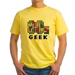 80s Geek Yellow T-Shirt