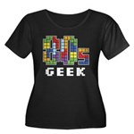 80s Geek Women's Plus Size Scoop Neck Dark T-Shirt