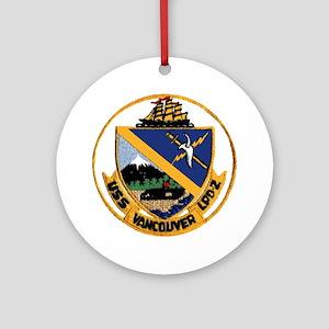 USS Vancouver LPD 2 Ornament (Round)