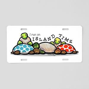 Island Time Turtle Aluminum License Plate