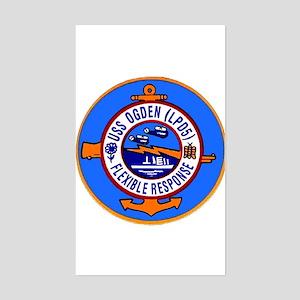 USS Ogden LPD 5 Rectangle Sticker