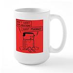 Large Mug featuring hungry Rosemary