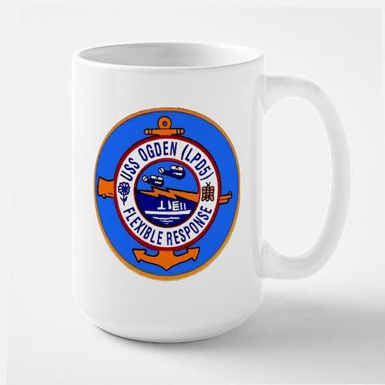 USS Ogden LPD 5 Large Mug