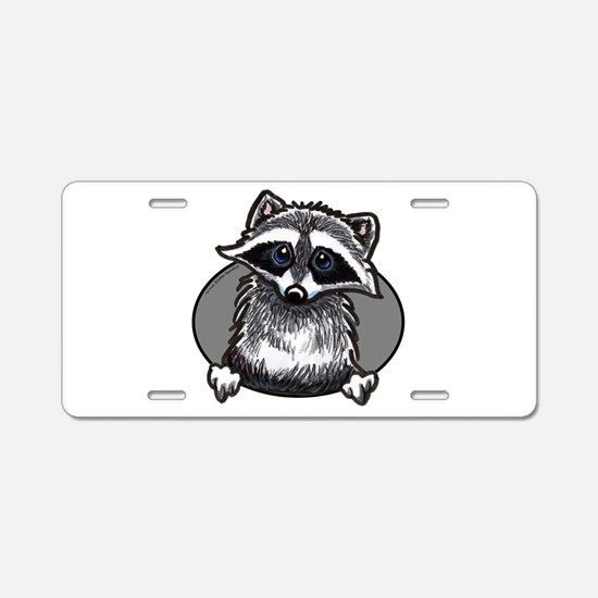 Raccoon Lover Aluminum License Plate