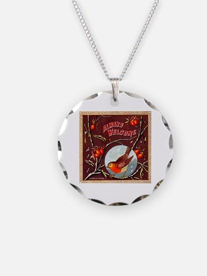 Welcome Bird Cigar Label Necklace