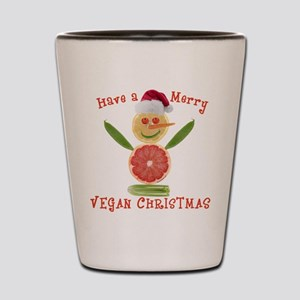 Merry Vegan Christmas Shot Glass