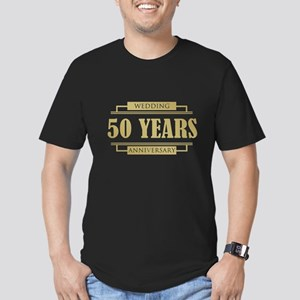 Stylish 50th Wedding Anniversary Men's Fitted T-Sh