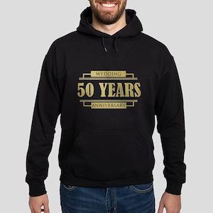 Stylish 50th Wedding Anniversary Hoodie (dark)