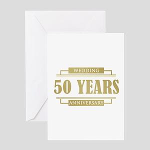 Stylish 50th Wedding Anniversary Greeting Card