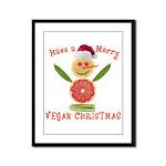 Merry Vegan Christmas Framed Panel Print