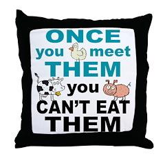 Animal Compassion Throw Pillow