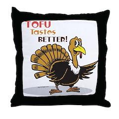 Tofu Not Turkey Throw Pillow
