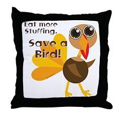Save a Turkey Throw Pillow
