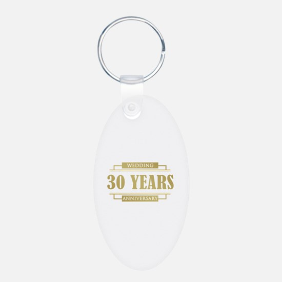 Stylish 30th Wedding Anniversary Keychains