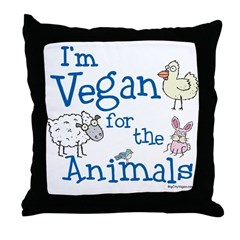 Vegan for Animals Throw Pillow