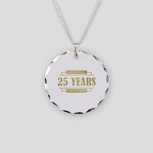 Stylish 25th Wedding Anniversary Necklace Circle C
