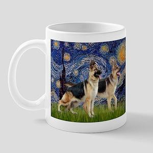 Starry / 2 German Shepherds Mug