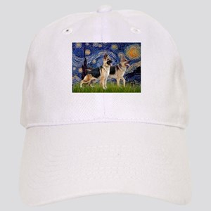 Starry / 2 German Shepherds Cap