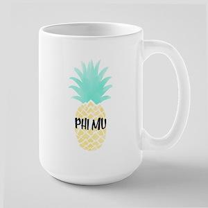 Phi Mu Pineapple 15 oz Ceramic Large Mug